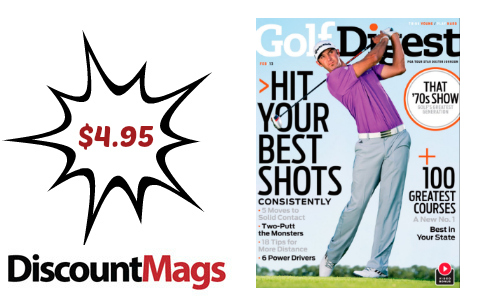 DiscountMags: Golf Digest Subscription, $4.95