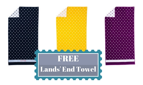 free towel at lands' end