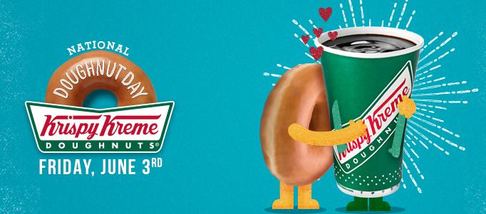 Free Doughnut at Krispy Kreme, 6/3