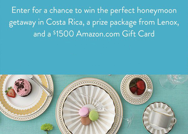 Amazon Wedding Registry Sweepstakes