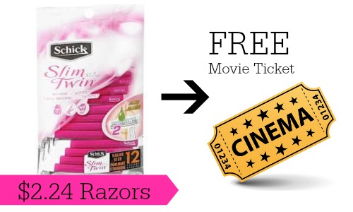 movie ticket schick razors