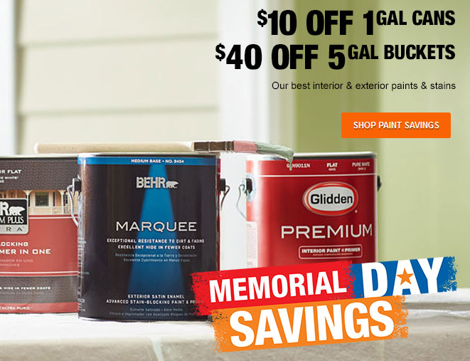 home depot paint sale
