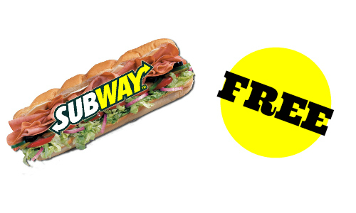 "Subway: Free 6"" Breakfast Sandwich"