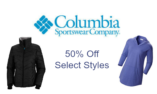 Save 50% Off on Columbia Styles
