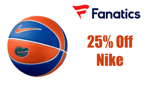 Fanatics: 25% Off All Nike Gear