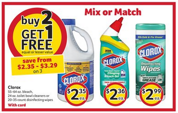 clorox deal at bi-lo