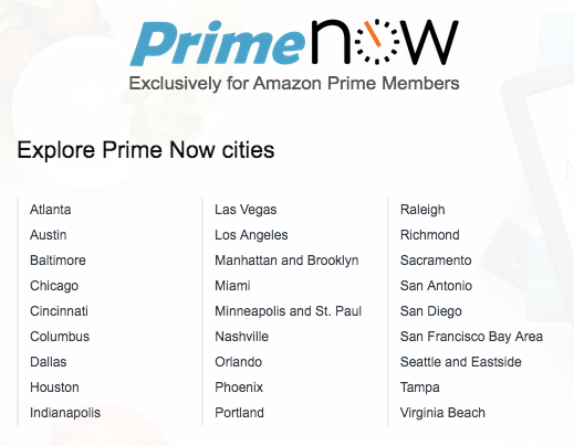 prime now cities