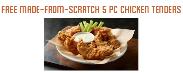 Cheddar's: Free Chicken Tenders