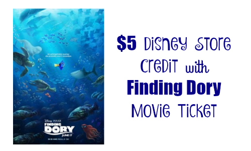 finding dory movie ticket
