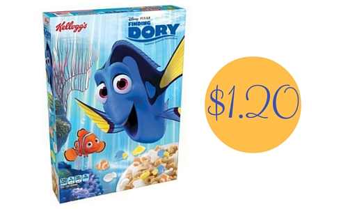 finding dory cereal coupon