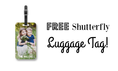 shutterfly coupon code  free luggage tag    southern savers
