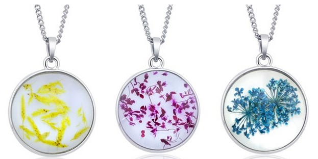Dried Flower Necklaces, $5.99, Shipped