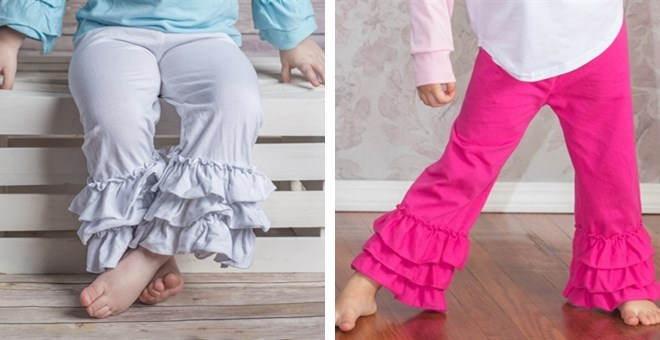 Adorable Toddler Ruffle Pants, $7.99