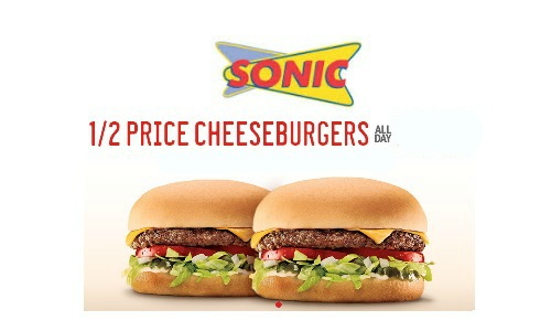 Half-Price Cheeseburgers at Sonic on Tuesdays After 5 PM Calling it