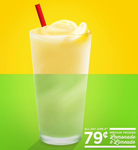 Sonic: 79¢ Frozen Limeades and Lemonades
