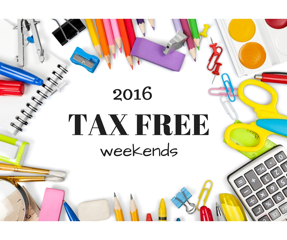 2016 tax free weekend