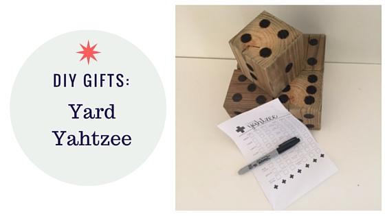 DIY Gifts- Yard Yahtzee