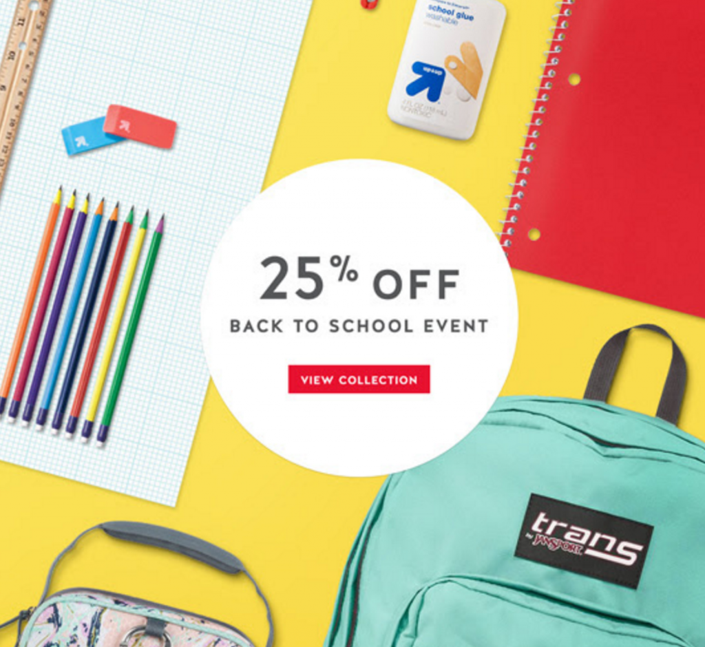 25% off school supplies