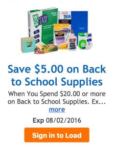 kroger school supplies coupon