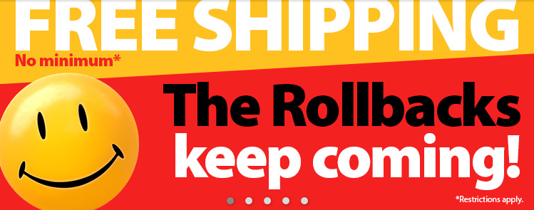 free shipping walmart rollback event