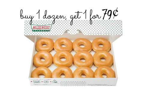 Krispy Kreme: Buy 1 Dozen, Get 1 for 79¢