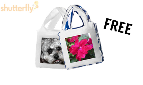 free shutterfly reusable shopping bag reward