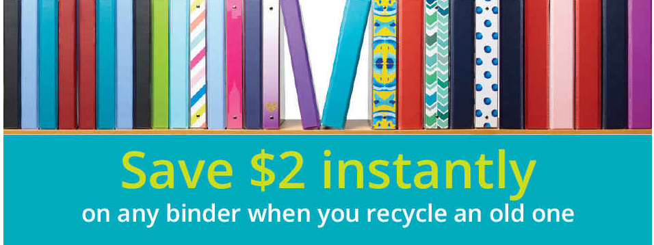 recycle binders at office depot