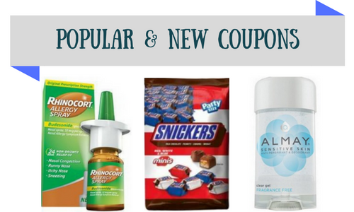 popular and new coupons