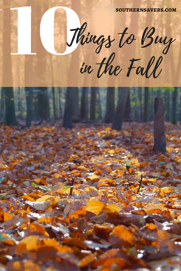 As a frugal girl, fall is my favorite season because of huge clearance deals we see. Here are my top ten things to buy in the fall.