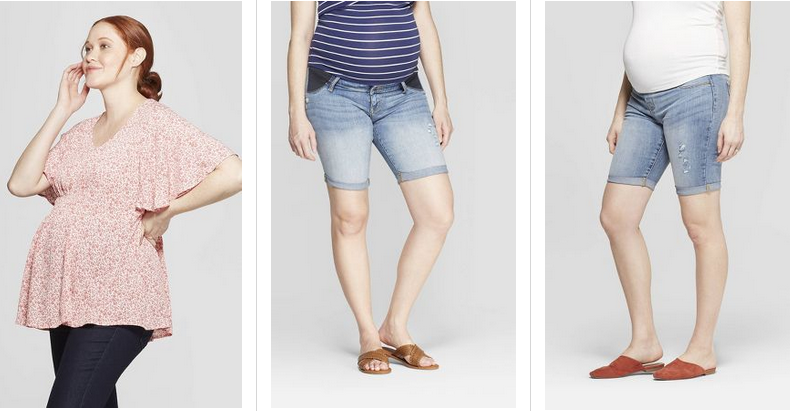 23d054b2ad467 You can get maternity clothes B1G1 50% off at Target this week. This  includes tops & shorts.