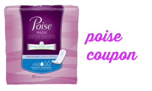 New Poise Coupon for Canada. Here is your chance to snag some great savings on select Poise products with these new printable coupons. NEW Save $ on any TWO (2) package of POISE® IMPRESSA® Bladder Supports Size 1, 2, or 3; Save $ on any TWO (2) packages of POISE® Pads; Save $ on any ONE (1) package of POISE® Pads.