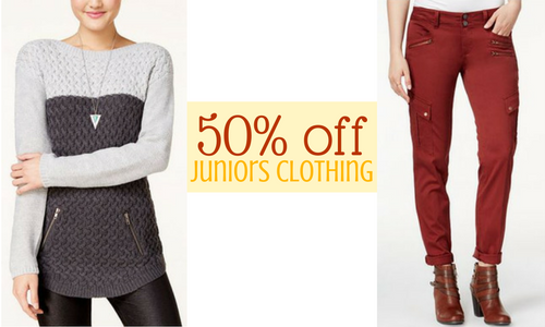 Macy's Sale | 50% off Juniors Clothing :: Southern Savers