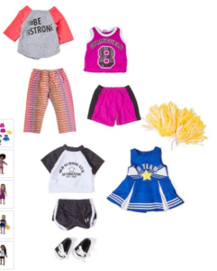 """18"""" doll sport outfit collection"""