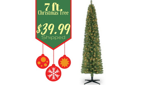 looking for a christmas tree right now there is a great michaels deal for a 7 ft pre lit pencil artificial christmas tree for just 3999 shipped reg