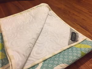 custom quilt back