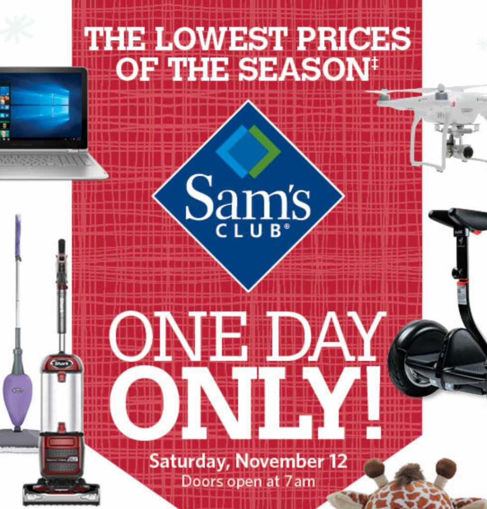 sams club pre-black friday event