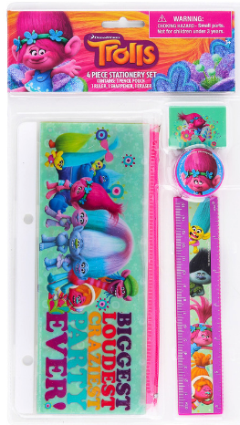 trolls stationary set