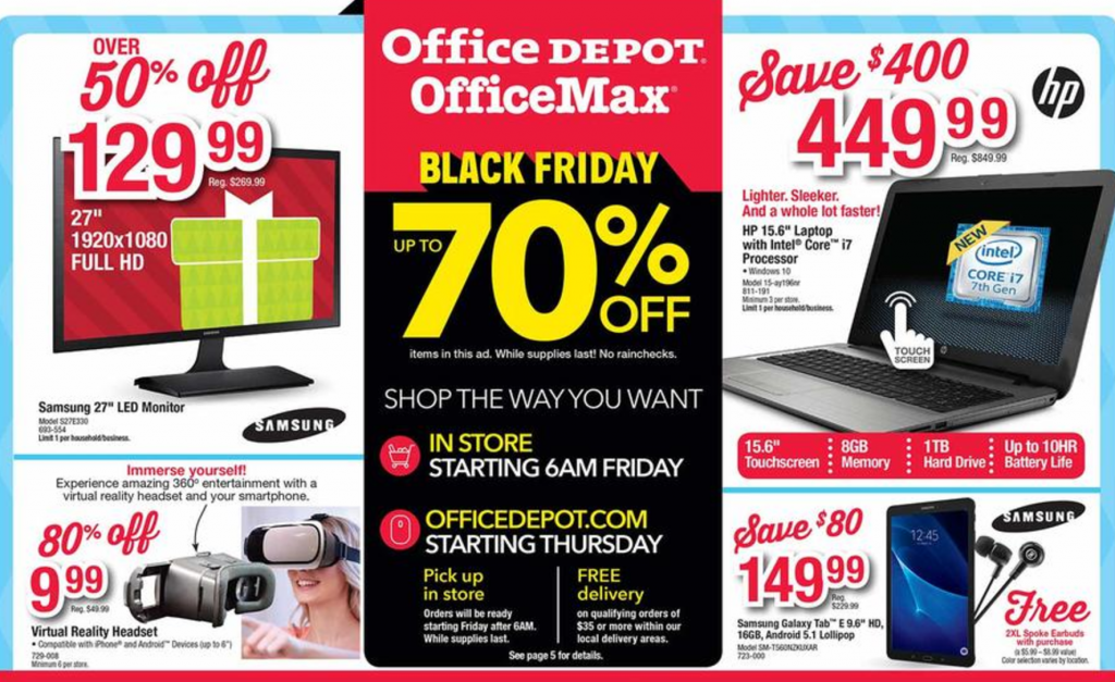 office depot black friday ad 2016