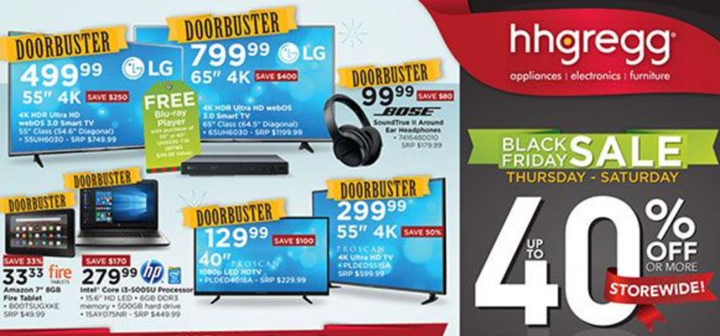 Hhgregg Black Friday Ad 2016 Southern Savers