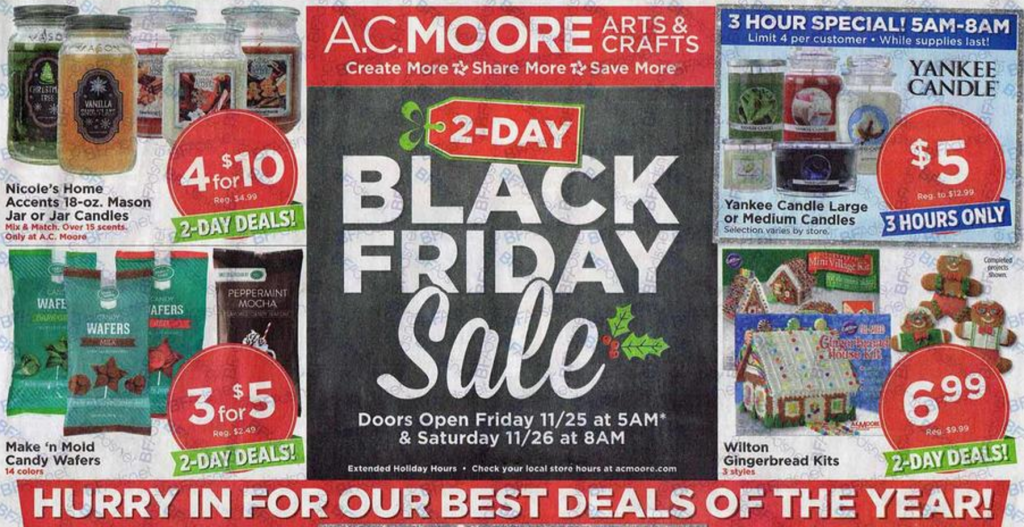 AC Moore Black Friday Ad 2016