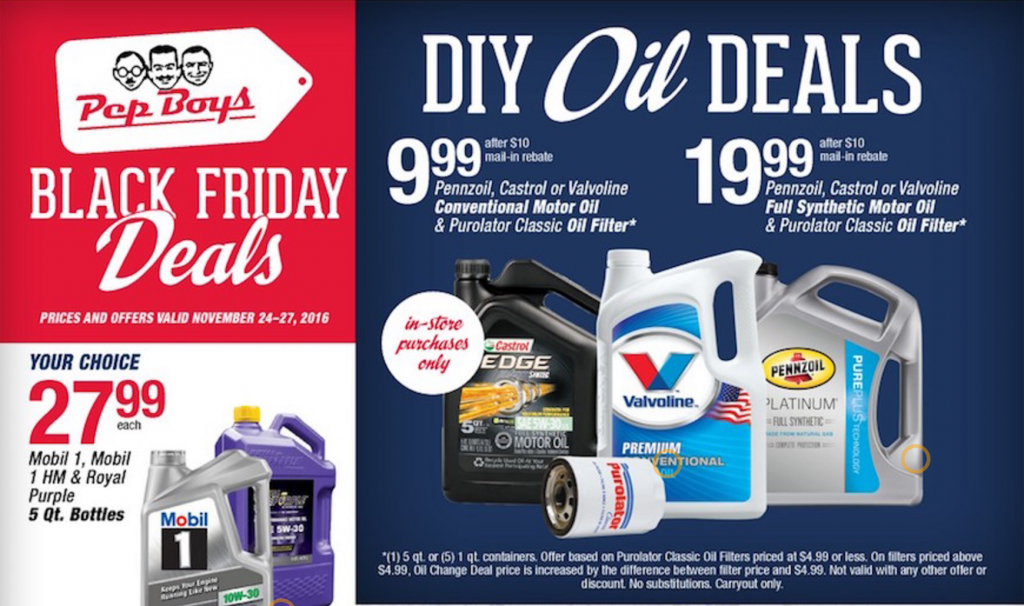 Pep Boys Black Friday Ad 2016
