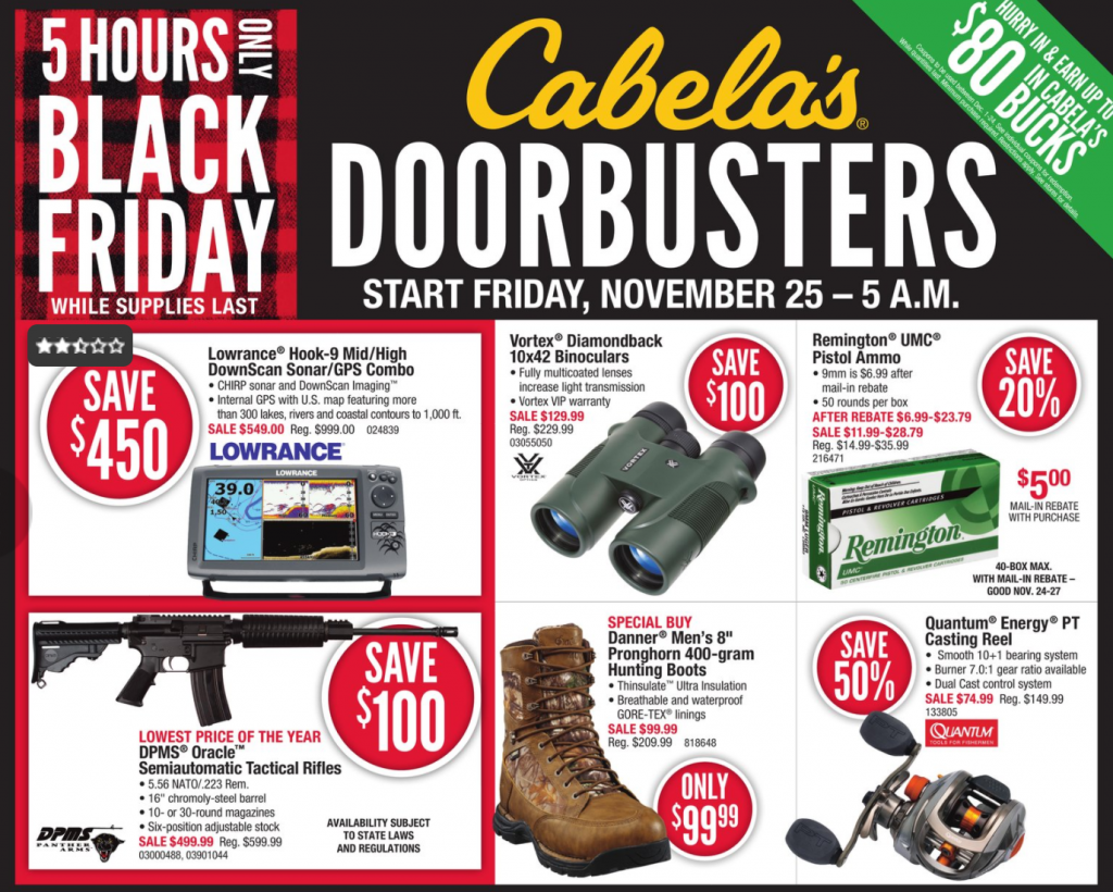 Cabela's Black Friday Ad 2016