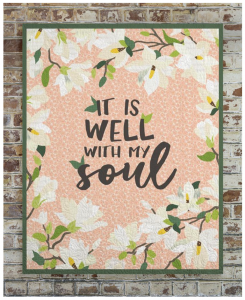 custom quilt - it is well with my soul
