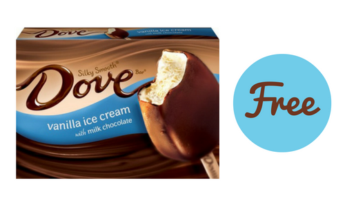free dove ice cream or sorbet bars    southern savers