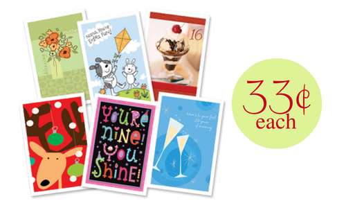 greeting card coupons