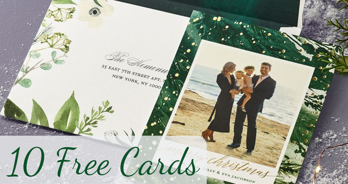 Tiny Prints: 10 Free Holiday Cards :: Southern Savers