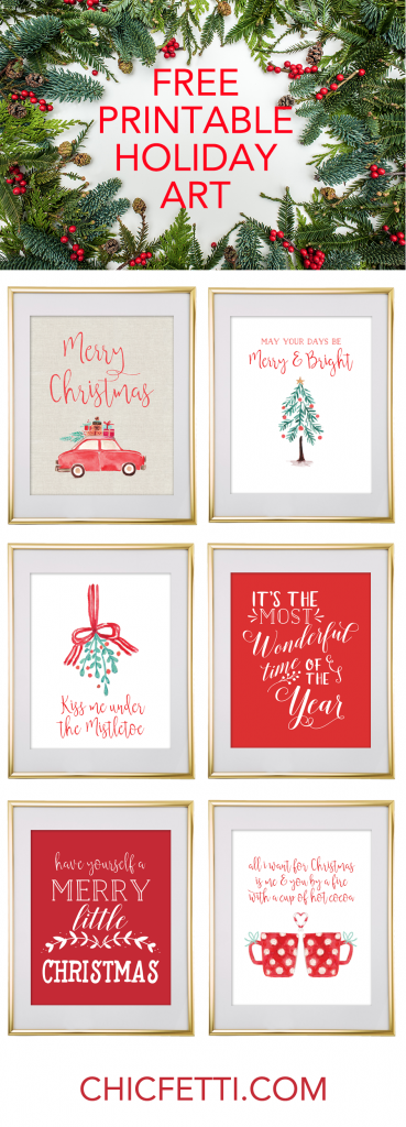 Dynamic image regarding printable christmas art