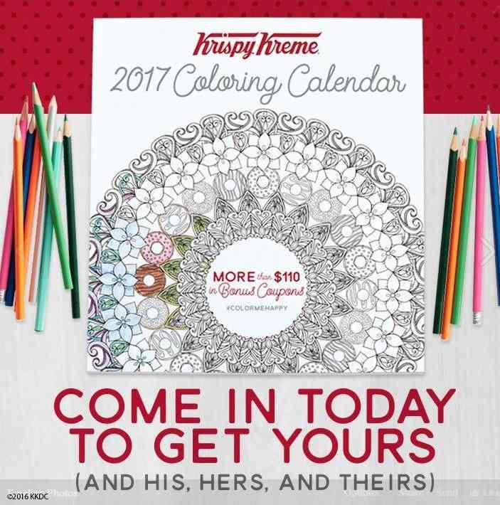 krispy kreme calendar