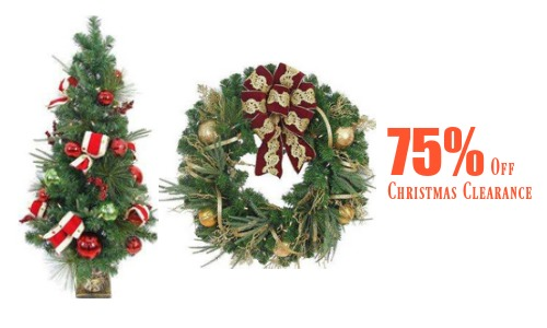 head to home depot where you can get 75 off various christmas clearance items this includes christmas lights yard decorations wreaths and ornaments - 75 Off Christmas Decorations