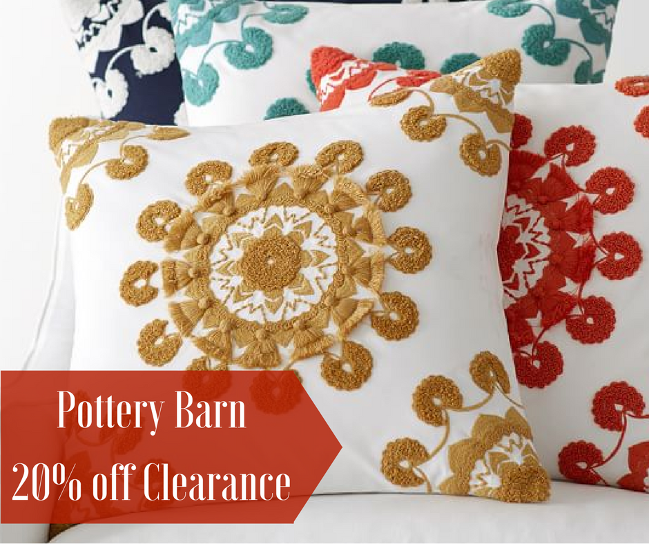 Pottery Barn 20 Off Clearance Promo Code Southern Savers